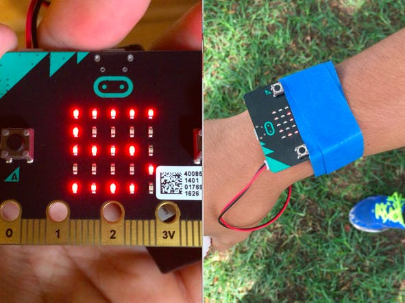 Baseball pitch counter wristband using micro:bit