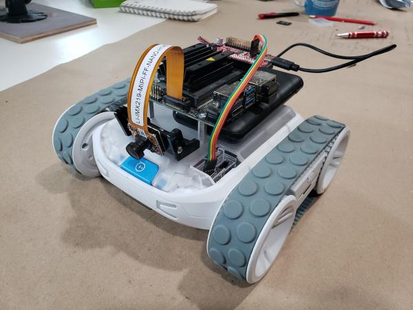 NVIDIA Jetson Nano mounted on top of Sphero RVR