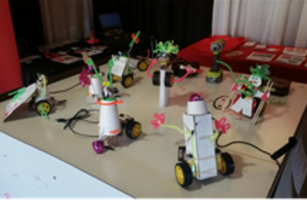 Creating robots from recycled materials