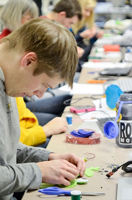 students working on maker education project