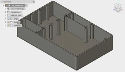 3D Printed Case insert for SparkFun Inventor's Kit v4.0