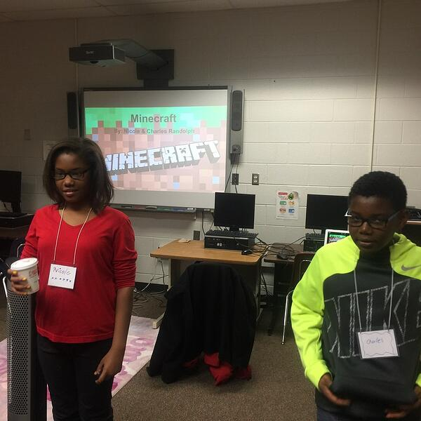 students presenting their CS ed learning