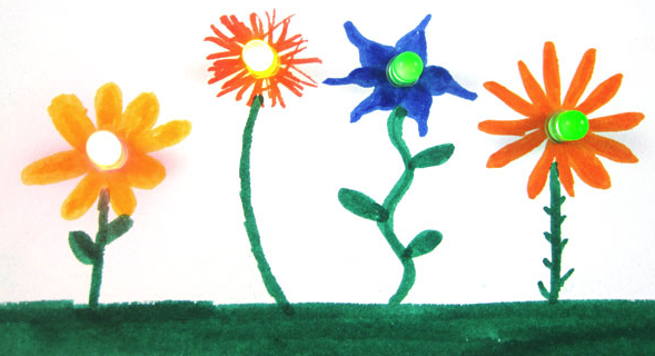 Flower Paper Circuit