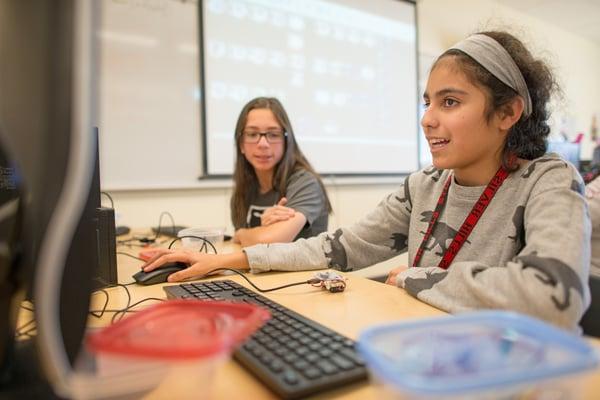 students using micro:bit