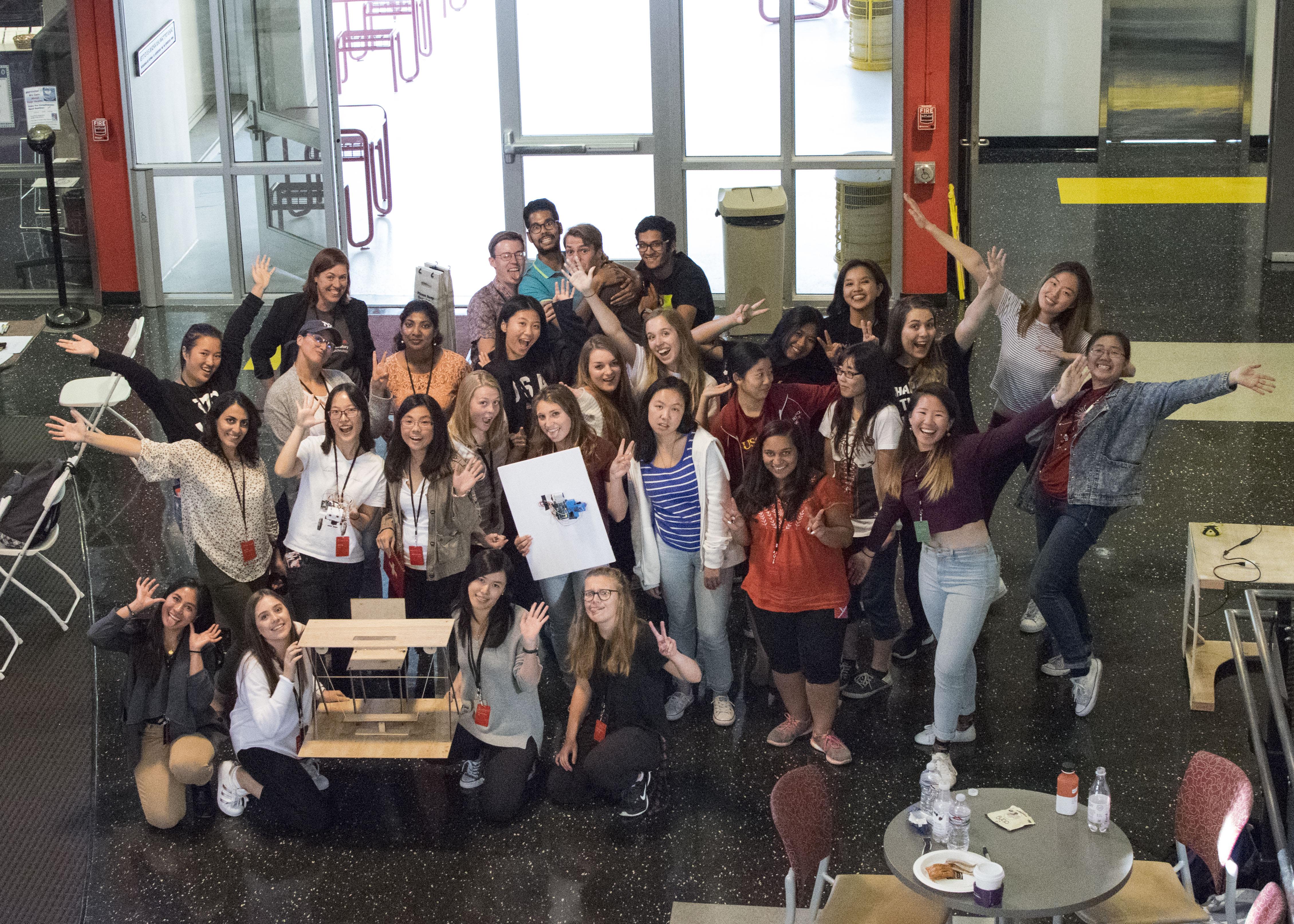 Participants at Make to Break Hackathon