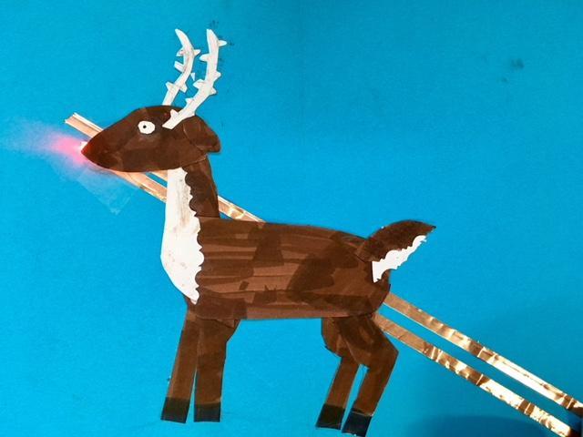paper circuit reindeer