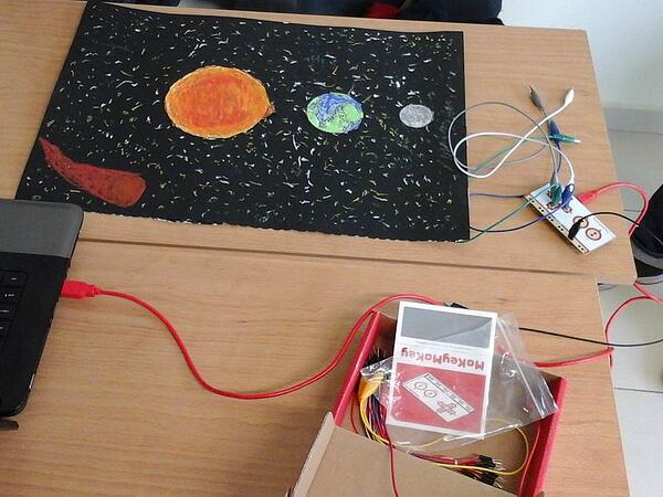 Makey Makey Moon Project
