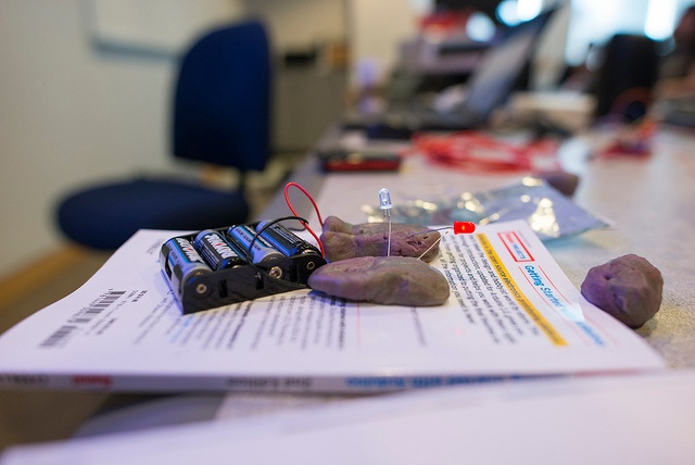 playdough and LED battery powered
