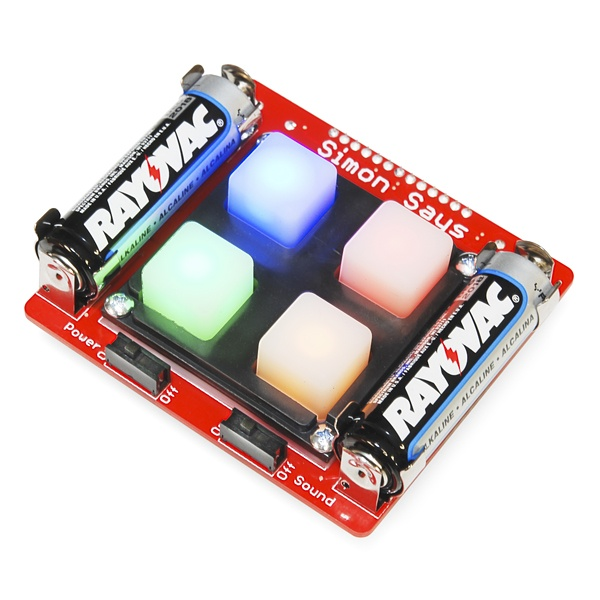 Simon Says soldering kit from SparkFun