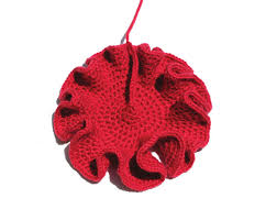 crocheted coral reef, flat