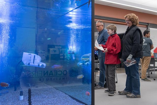 underwater robotics tank at the Innovation Center