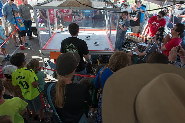 Combat Bot arena at SparkFun Autonomous Vehicle Competition