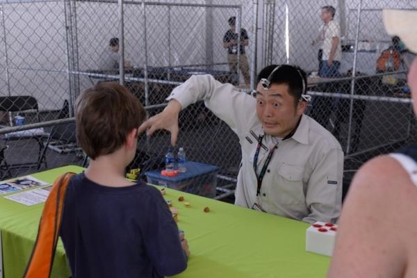 asking questions at Bat Area Maker Faire 2017