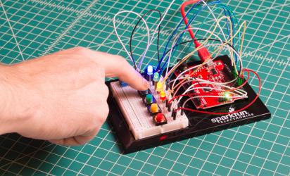 Creating a circuit using a breadboard