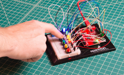 Creating a circuit using a breadboard
