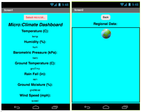 micro:climate app