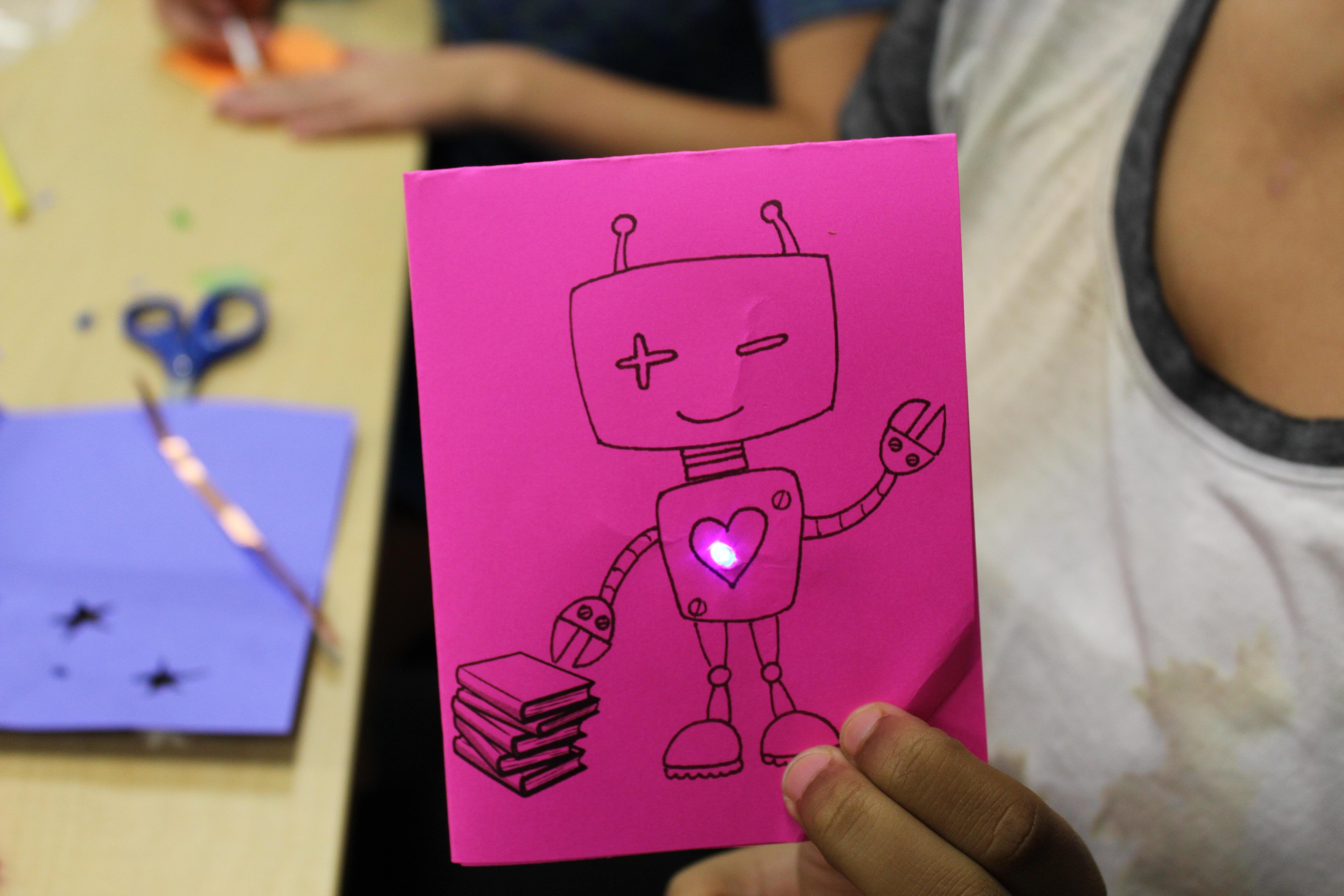 robot paper circuit card