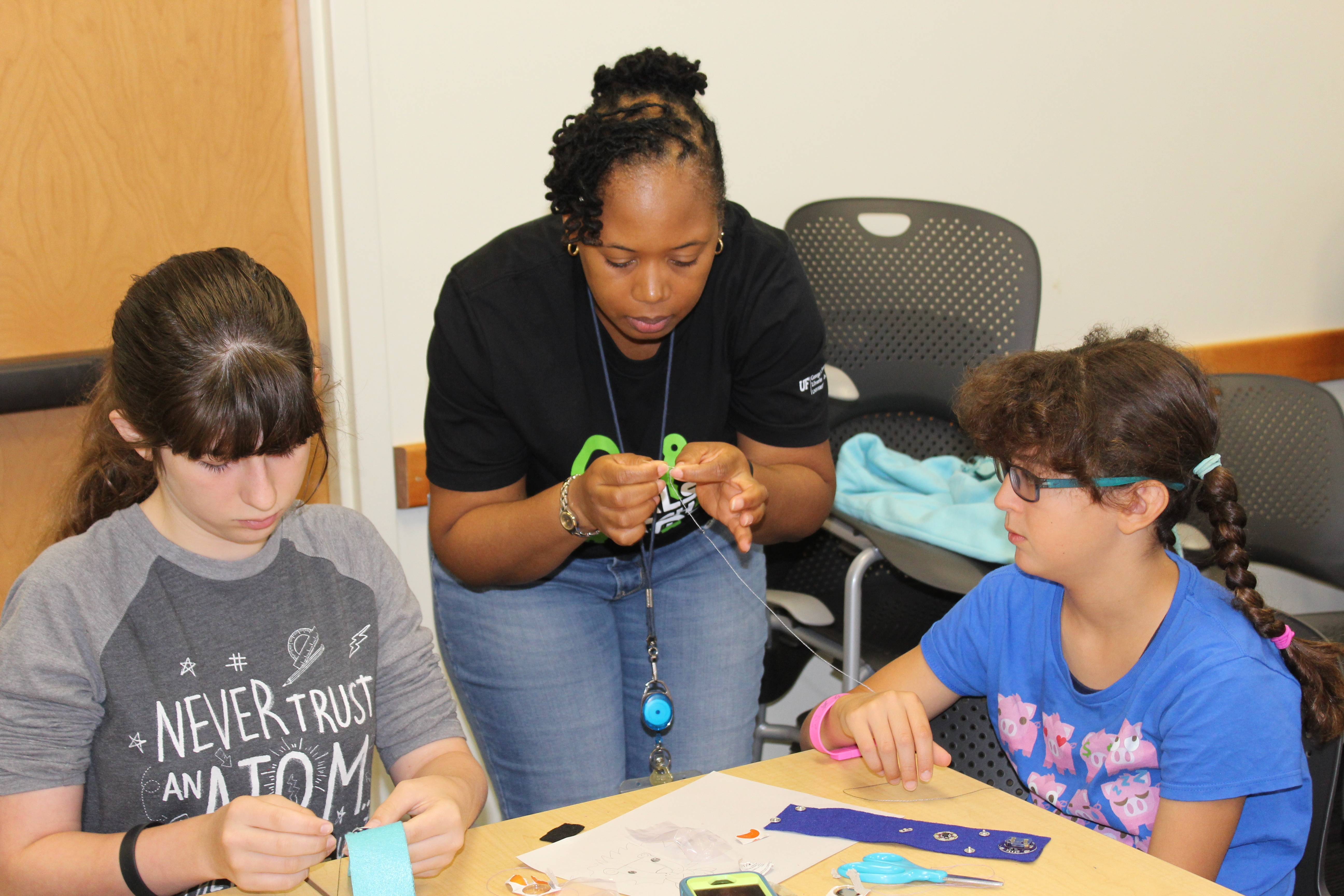 teaching students to create sewable circuits