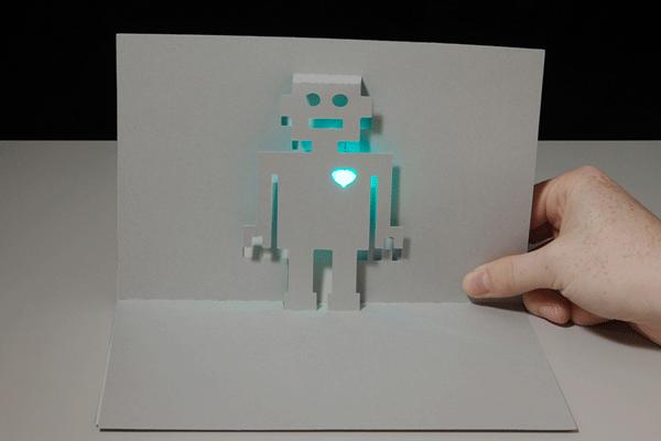 LED robot paper circuit