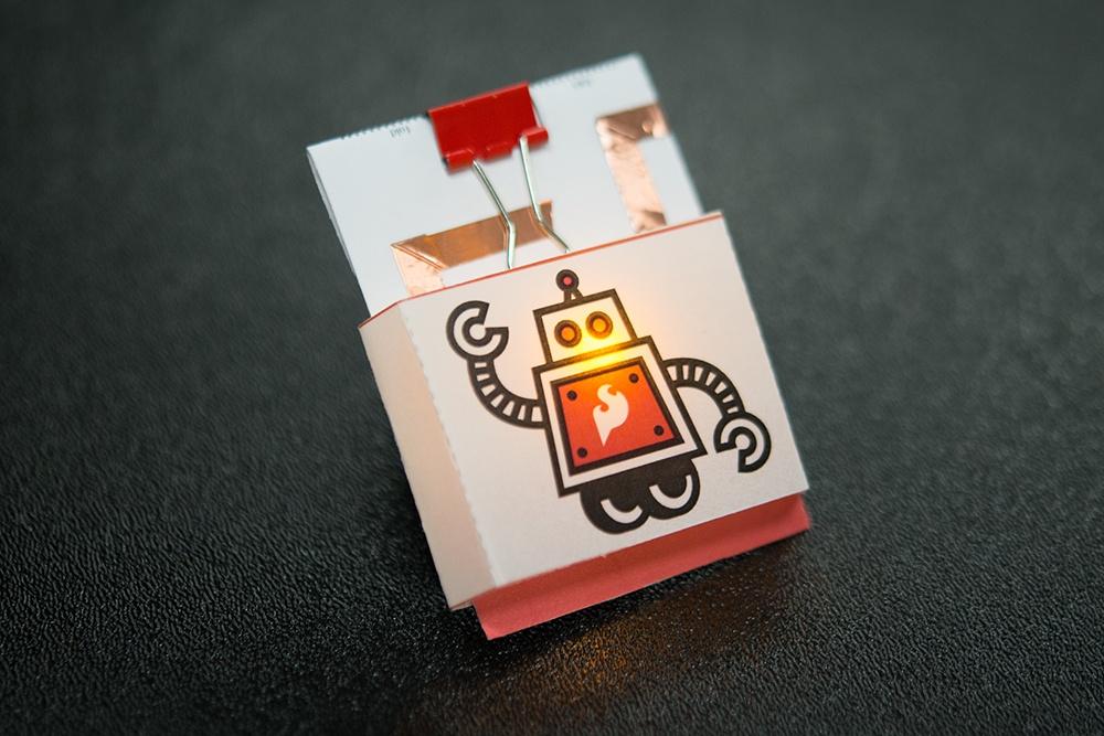 paper circuit pin by SparkFun