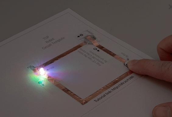 paper circuit LED