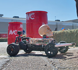 competitor vehicle at SparkFun AVC