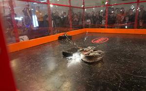 combat bot arena at SparkFun AVC