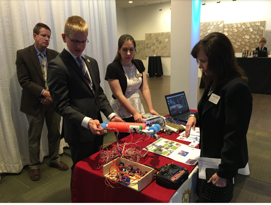 Demonstration of one of the projects at this year's CTA conference.
