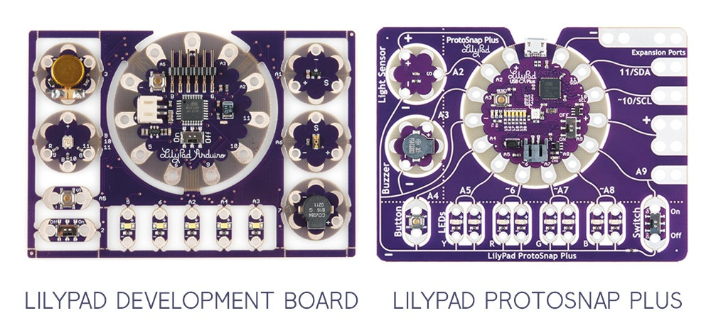 The evolution of LilyPad ProtoSnap Plus
