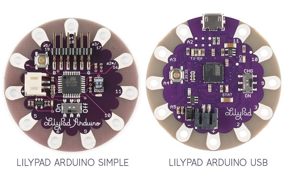 LilyPad e-textile boards