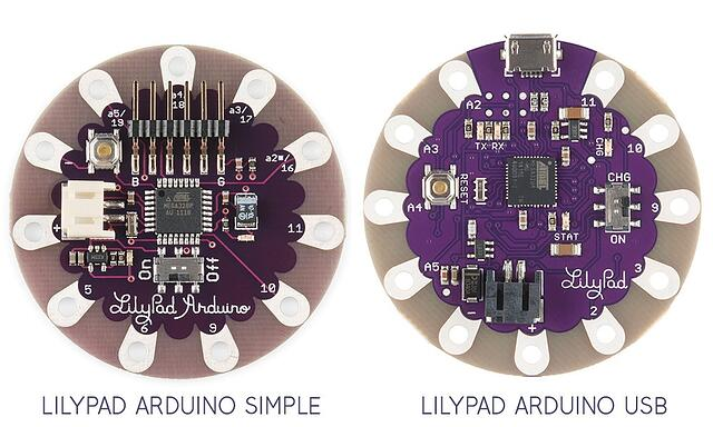 LilyPad e-textile boards