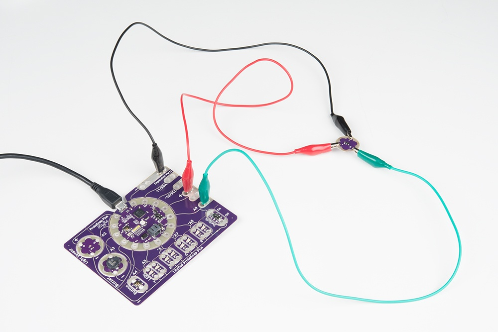 Attaching additional sensors to LilyPad ProtoSnap Plus