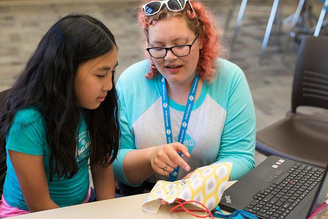 Teaching LilyPad at iS Tech Alexa Cafe
