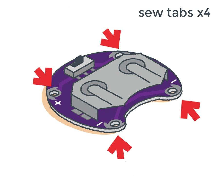 LilyPad sewable tabs
