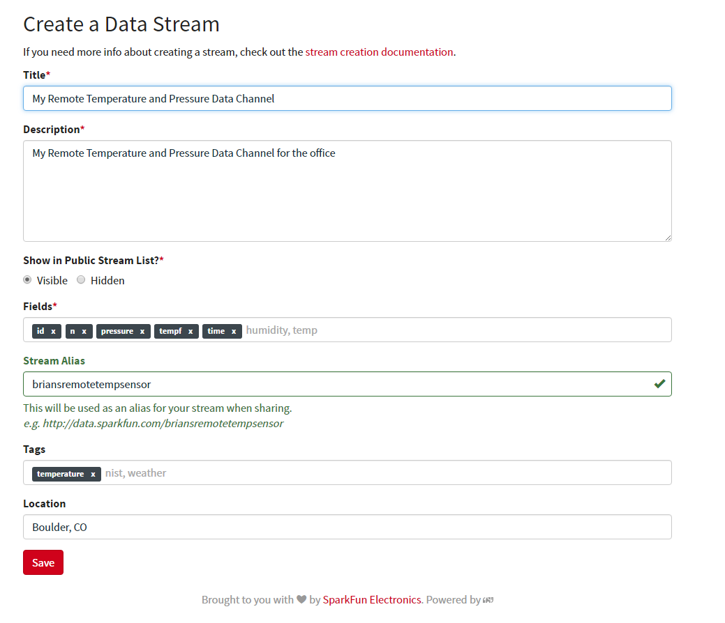 Create a data stream