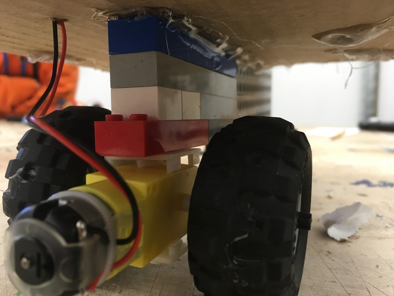 motor attached to LEGOs